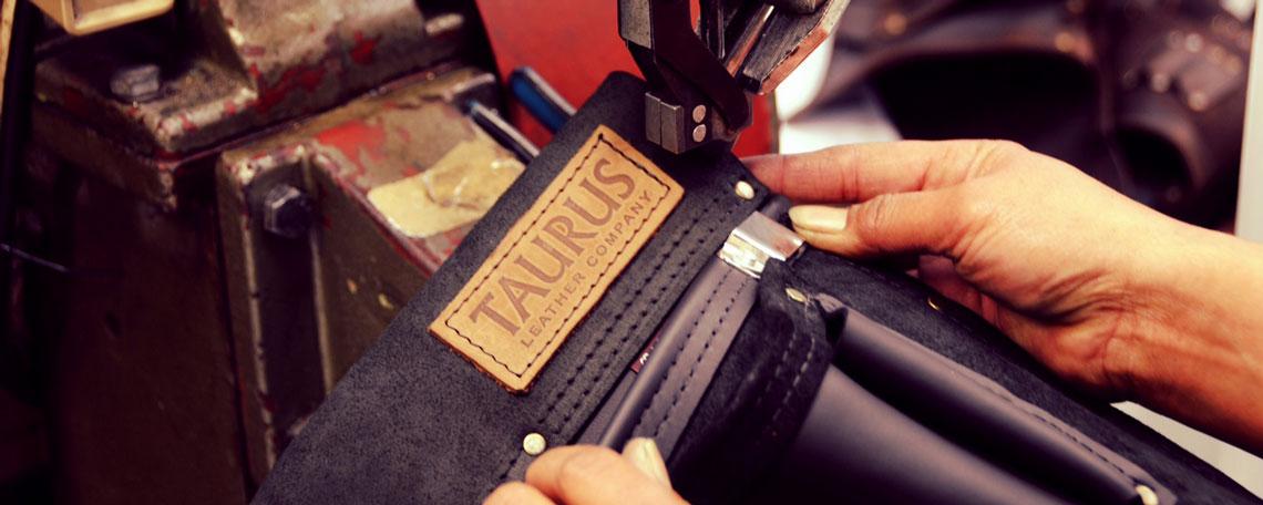 Hand stitching leather tool belt